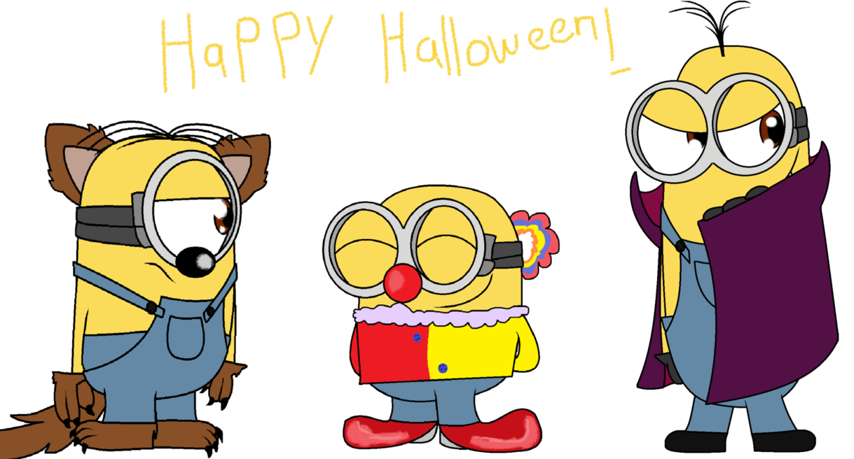 Halloween minion clipart image transparent stock Happy Halloween! by Elisacoto on DeviantArt image transparent stock