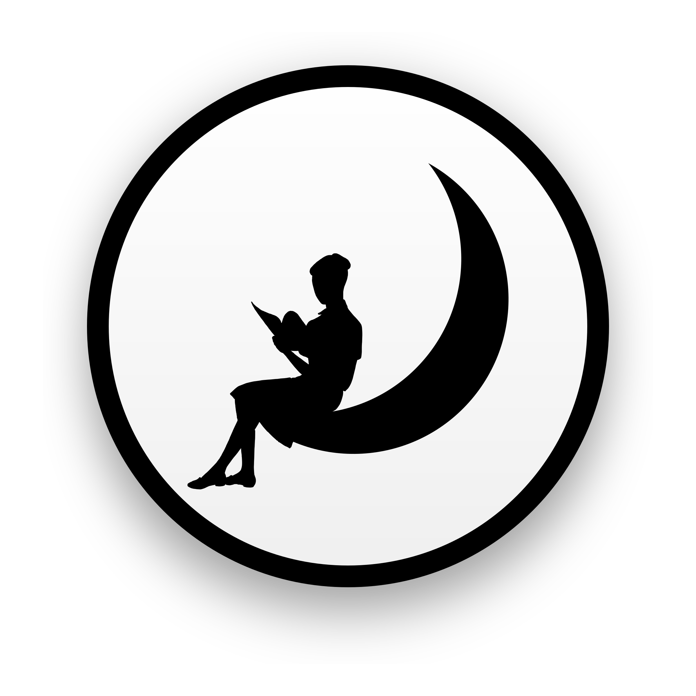 Halloween moon clipart black and white png royalty free Moon Silhouette Clipart at GetDrawings.com   Free for personal use ... png royalty free