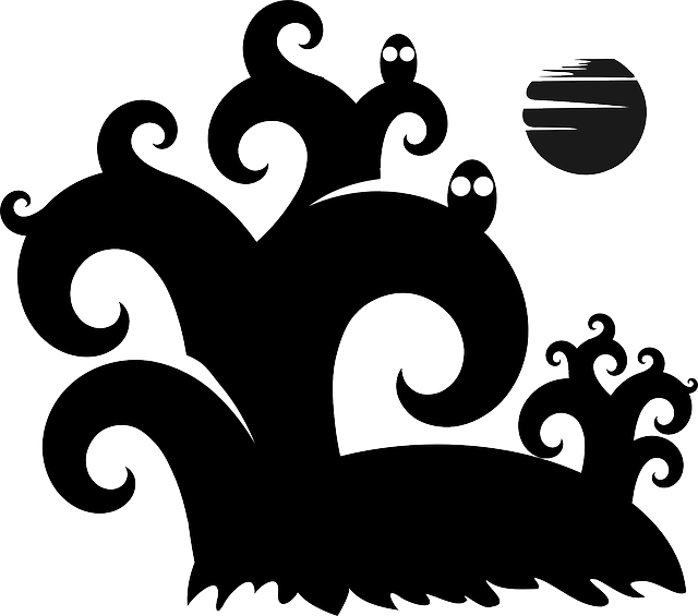 Halloween moon clipart black and white jpg library library Free pictures MOON - 524 images found jpg library library