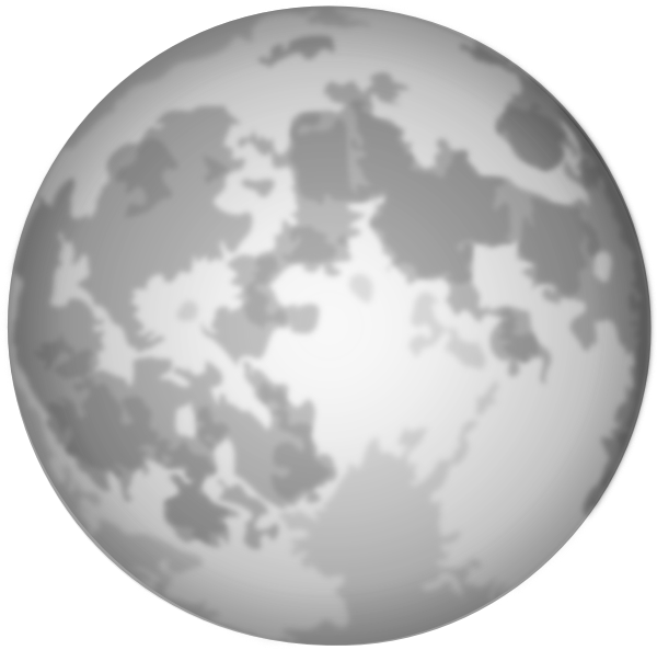 Halloween moon clipart black and white banner free library Bright Full Moon Clip Art at Clker.com - vector clip art online ... banner free library