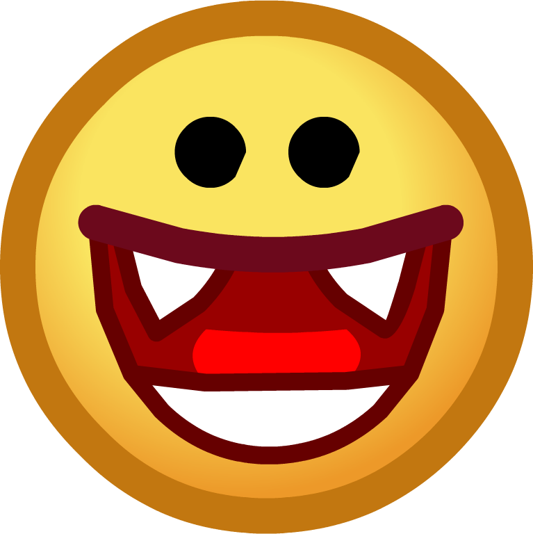 Halloween mouth clipart graphic black and white Image - Halloween 2014 Emoticons Vampire Smile.png | Club Penguin ... graphic black and white