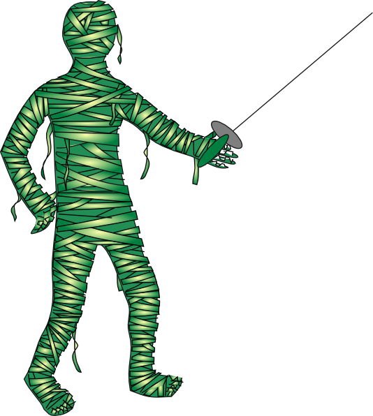 Mummy halloween clipart clip art black and white stock Green Fencing Mummy Clip Art at Clker.com - vector clip art online ... clip art black and white stock