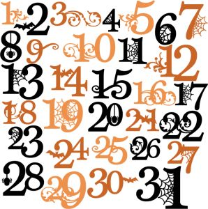 Halloween numbers clipart image transparent Halloween Numbers Clipart   Free download best Halloween Numbers ... image transparent
