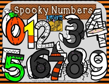 Halloween numbers clipart jpg transparent Halloween Spooky Number Clip Art by Kid-E-Clips Personal Commercial jpg transparent