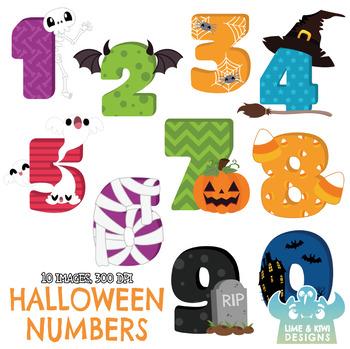 Halloween numbers clipart jpg black and white download Halloween Numbers Clipart, Instant Download Vector Art, Commercial Use Clip  Art jpg black and white download