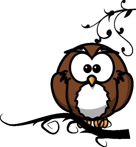 Halloween owl cartoon images clipart jpg library Owl On Branch 2 Clip Art at Clker.com - vector clip art online ... jpg library