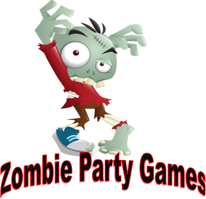 Halloween party at a park clipart black and white stock Zombie games to play at Gabriel's party | Bagel's Zombie Party ... black and white stock