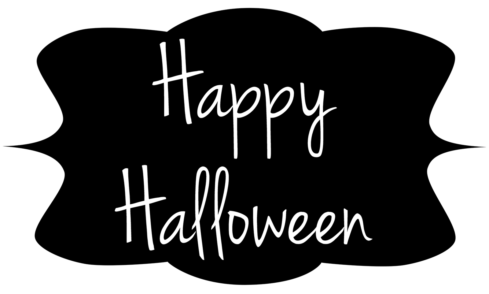 Happy halloween clipart black and white clip black and white stock Happy Halloween Images, Halloween pictures | GlendaleHalloween clip black and white stock