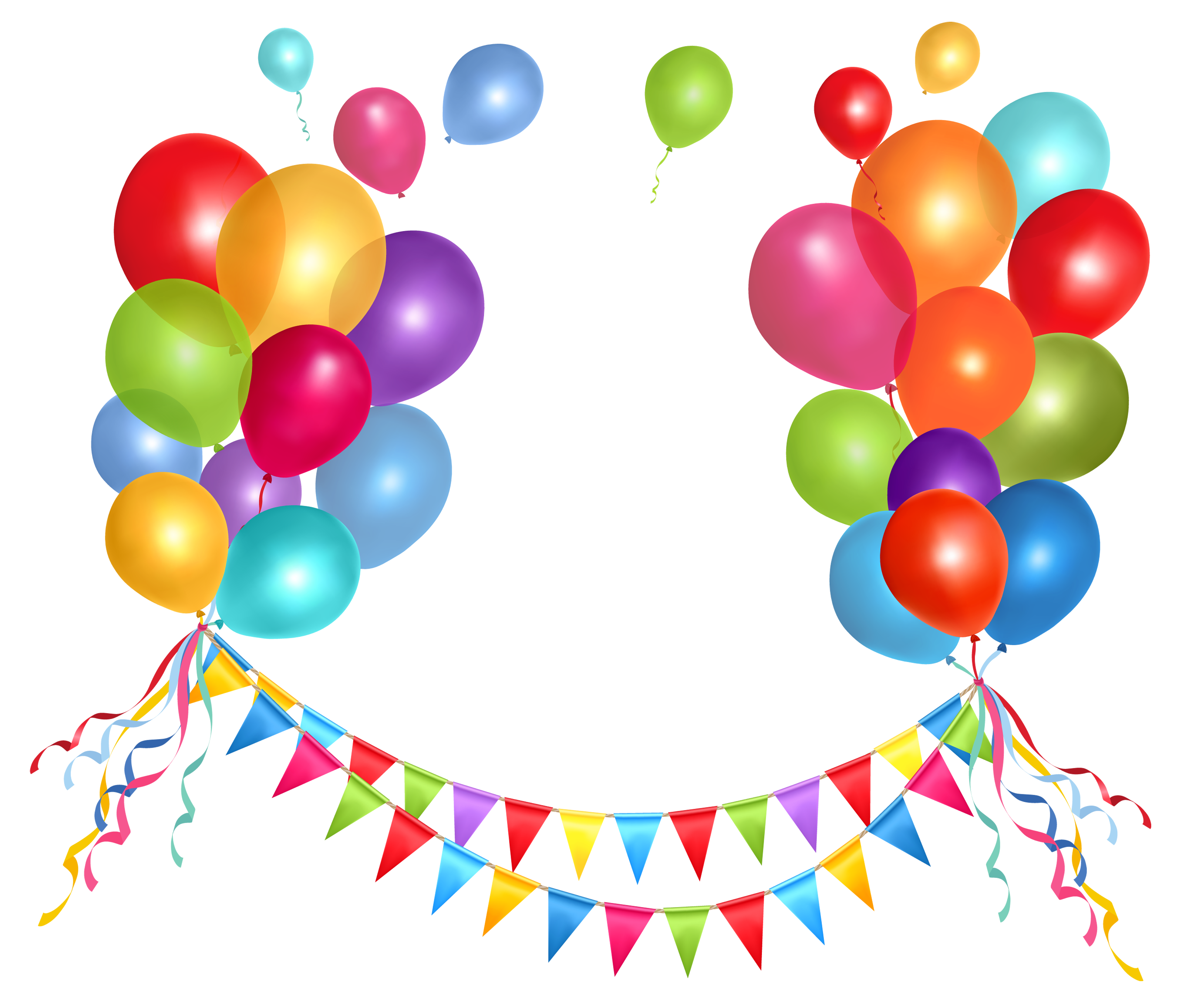 Halloween party balloons clipart picture library Transparent Party Streamer and Balloons PNG Clipart Picture ... picture library