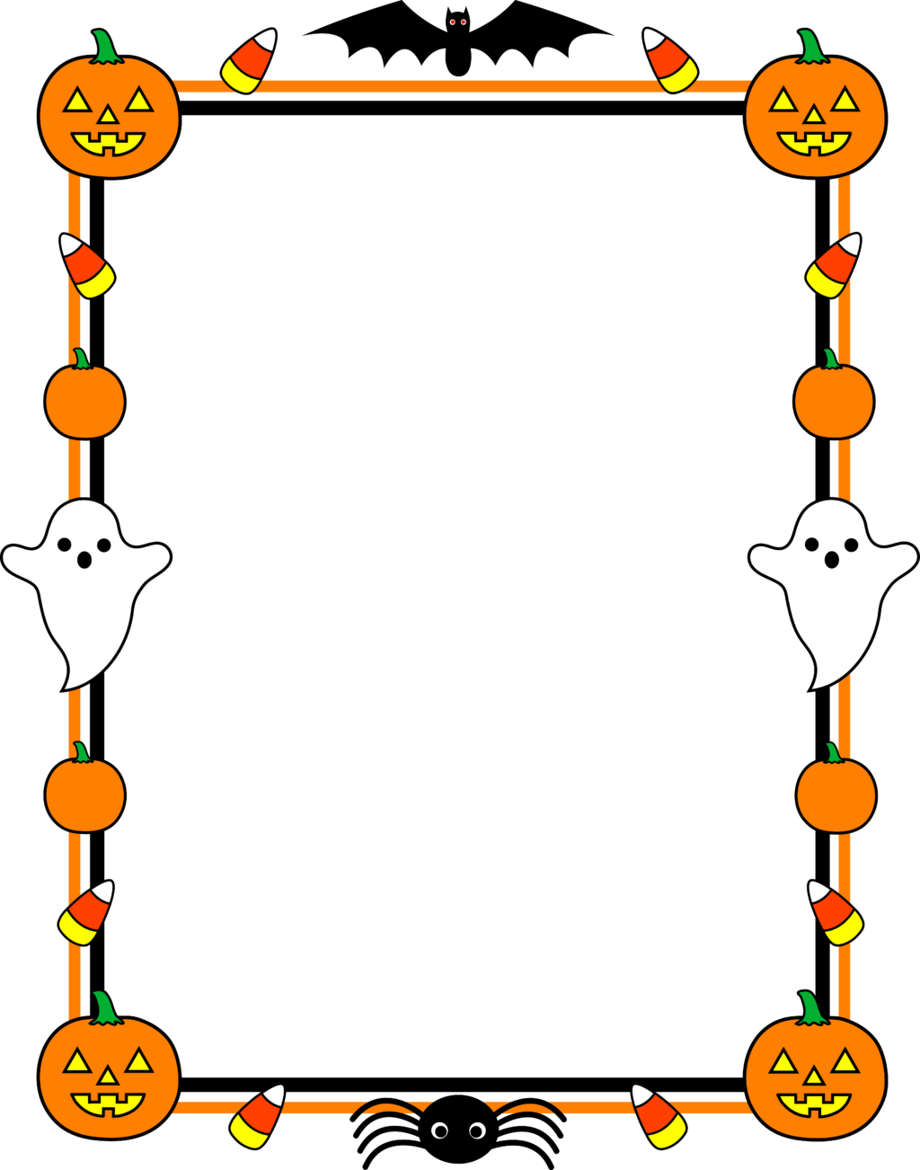 Halloween party free clipart svg free Halloween ~ Cute Halloween Border Frame Halloween Cute Border Frame ... svg free