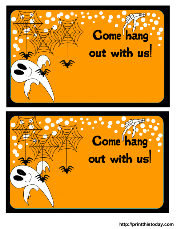 Halloween party invitation clipart png freeuse download Halloween Birthday Party Invitations Free Printable | cimvitation png freeuse download