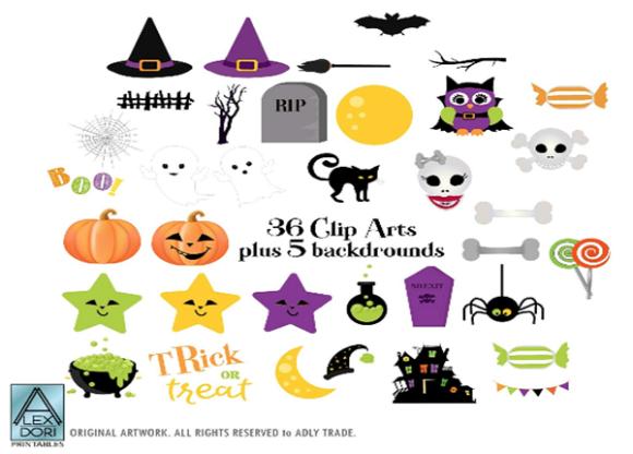 Halloween patterns clipart picture Halloween Clip Art 36 Clipart 3 Patterns picture