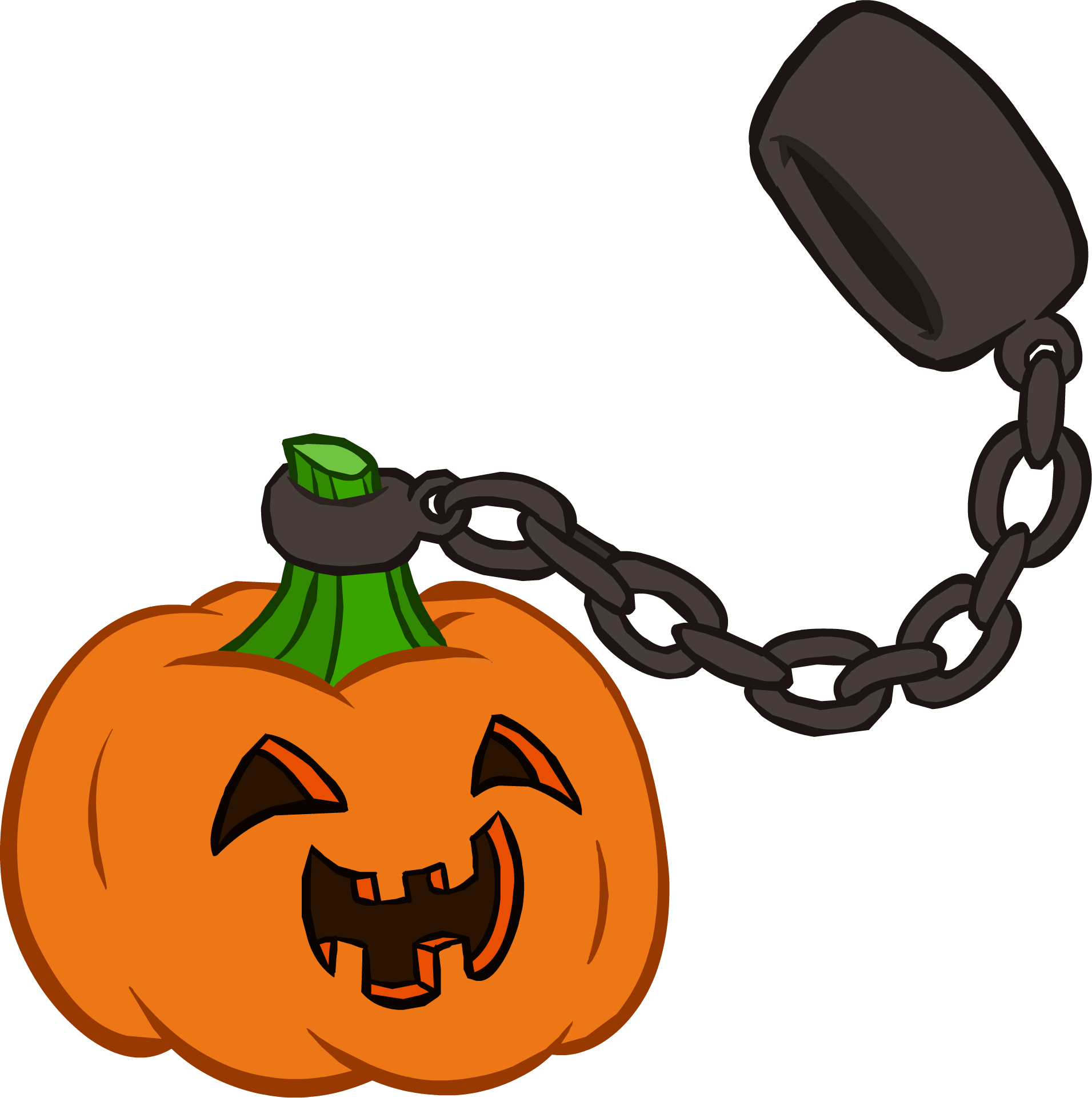 Halloween pumpkin clipart in green screen clip transparent Halloween Party 2014 interface | Club Penguin Wiki | FANDOM powered ... clip transparent