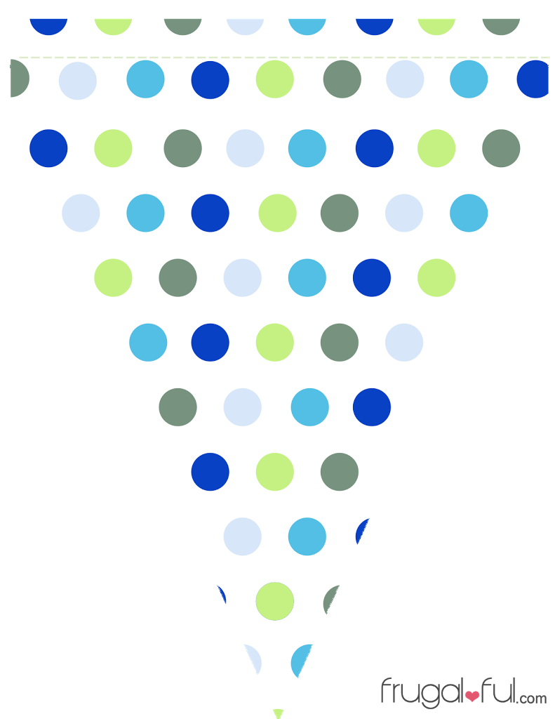 Halloween pennant banner clipart png free library Free Printable Blue & Green Triangle Banner Template – Frugalful ... png free library