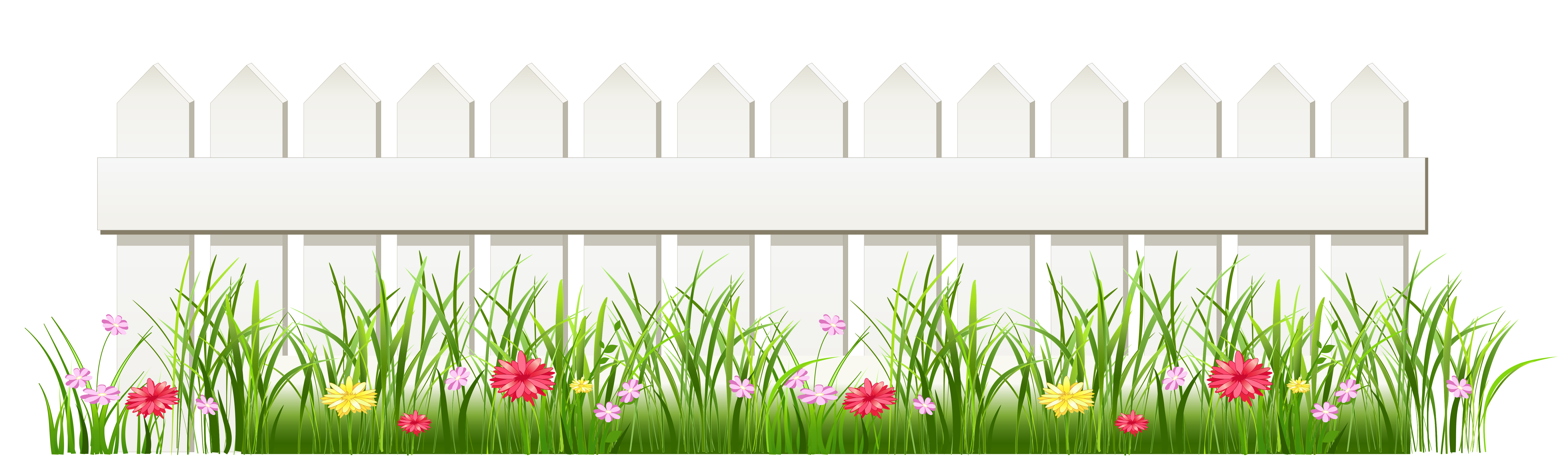 Transparent White Fence with Grass PNG Clipart | Gallery ... jpg free download