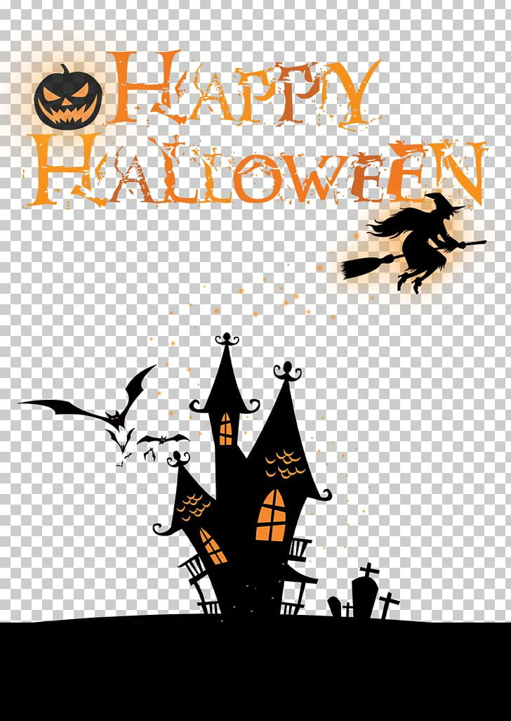 Halloween poster clipart picture library library Halloween Poster PNG, Clipart, Bat, Brand, Creative Holiday ... picture library library