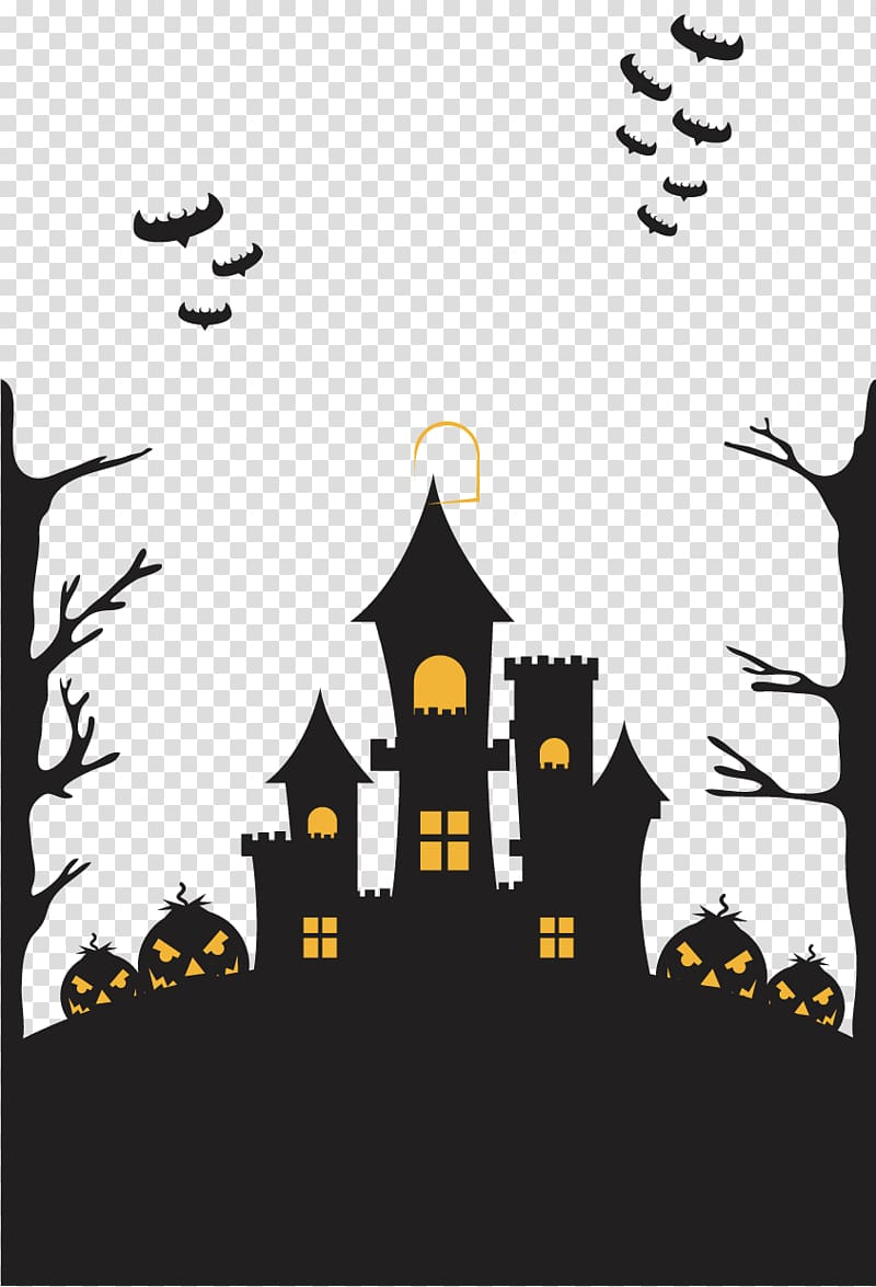 Halloween poster clipart picture library download Halloween Poster, Halloween Castle transparent background PNG ... picture library download