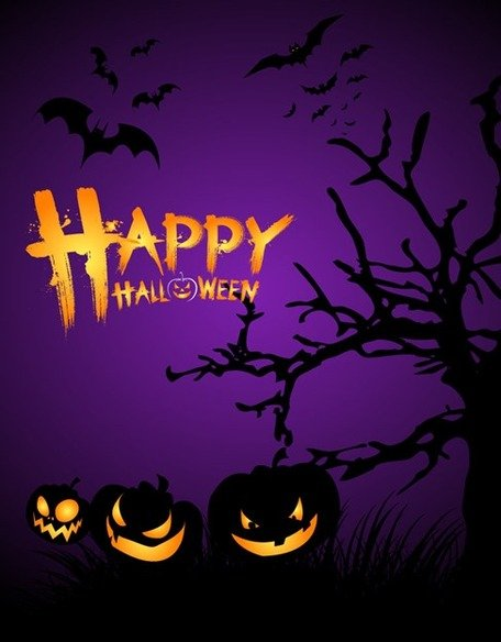 Halloween poster clipart image free stock Free Halloween Night Poster Template Clipart and Vector Graphics ... image free stock