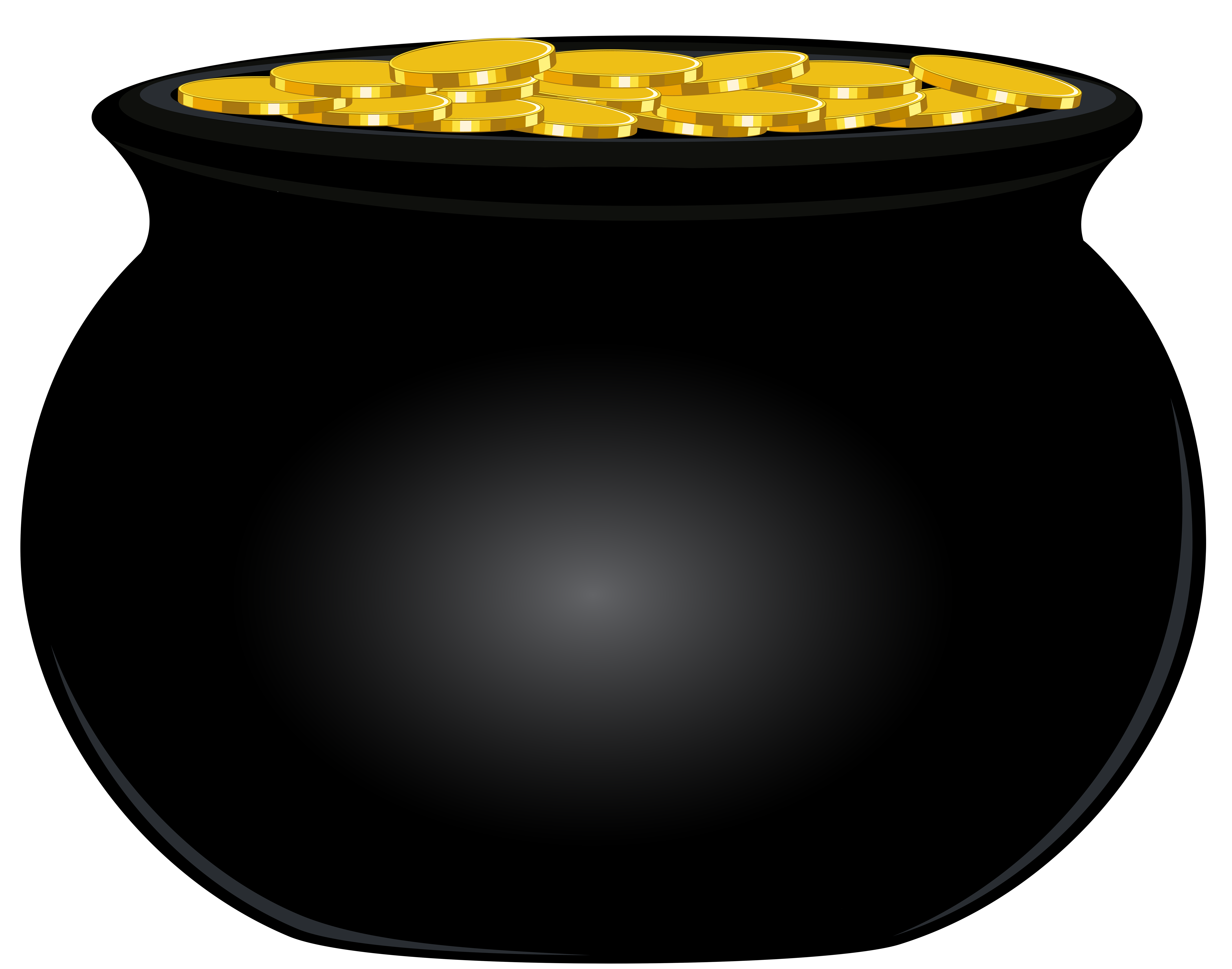 Black Pot of Gold PNG Clip Art Image | Gallery Yopriceville - High ... clip library stock