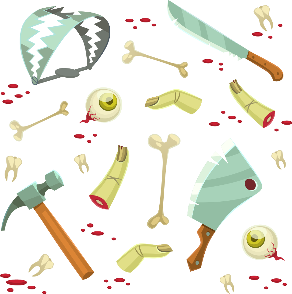 Halloween props clipart jpg library download Vector scary Halloween props 953*958 transprent Png Free Download ... jpg library download