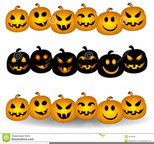 Halloween pumpkin border clipart vector library library Pumpkin Border Clipart   Free Images at Clker.com - vector clip art ... vector library library