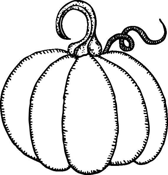 Pumpkin outline clipart black and white svg library stock Pumpkin Outline Clip Art at Clker.com - vector clip art online ... svg library stock