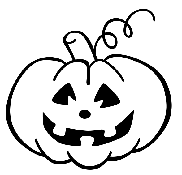 Halloween row of pumpkins clipart black and white vector freeuse Pumpkin Clipart Black And White Free | Free download best Pumpkin ... vector freeuse