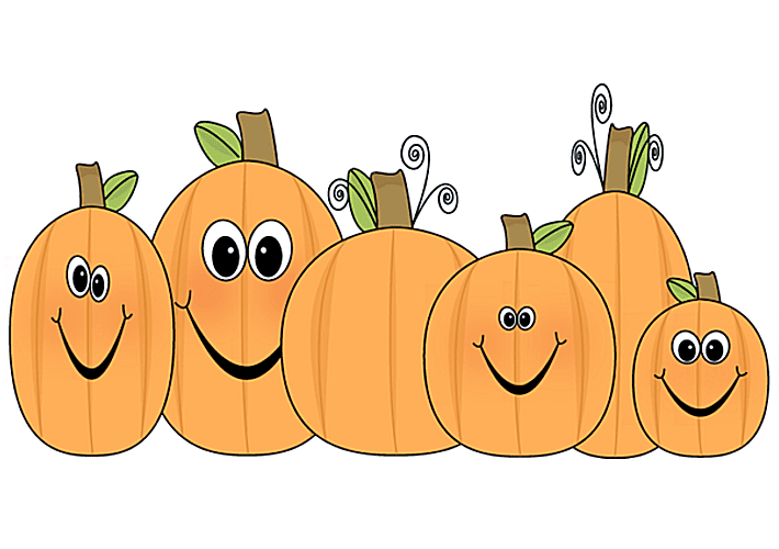 Halloween row of pumpkins clipart black and white vector royalty free download Free Pumpkin Clip Art and Images vector royalty free download