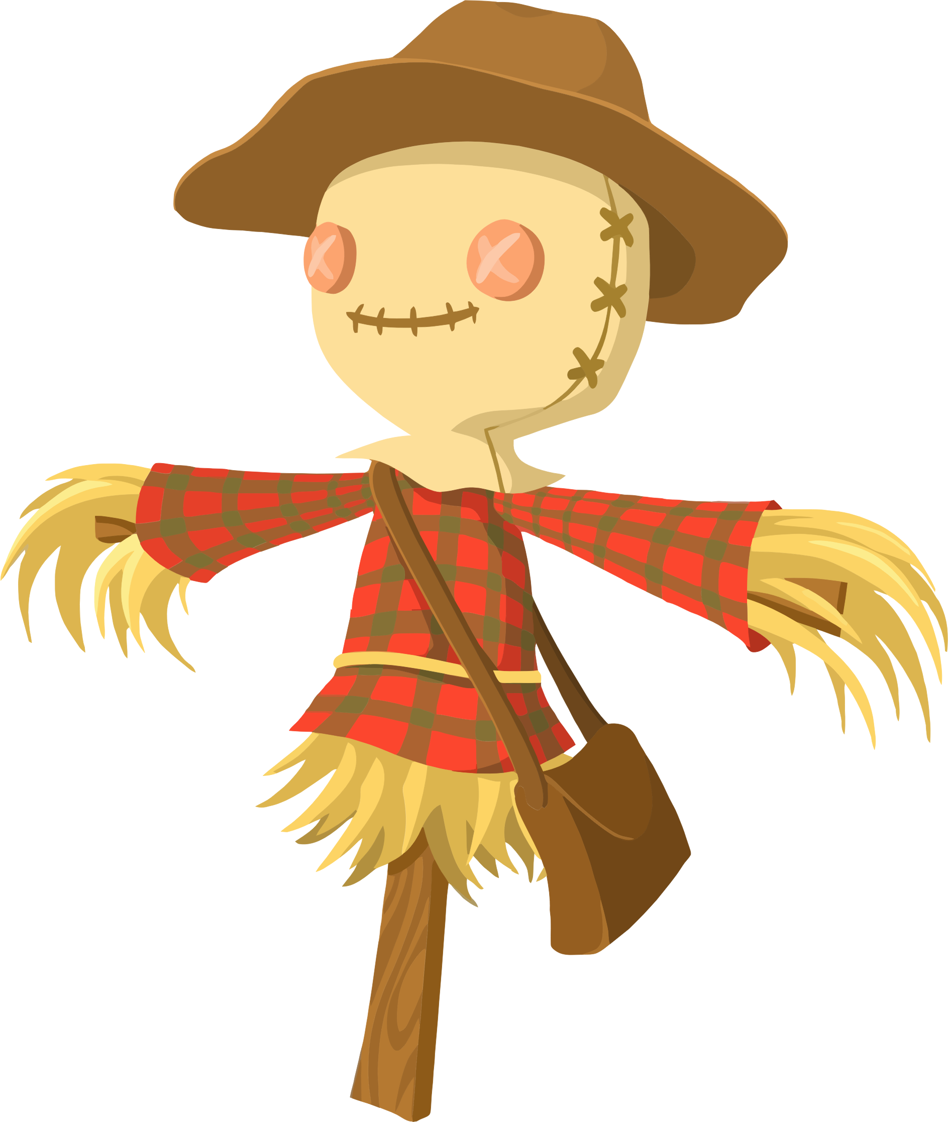 Clipart - Cartoon Scarecrow clipart free