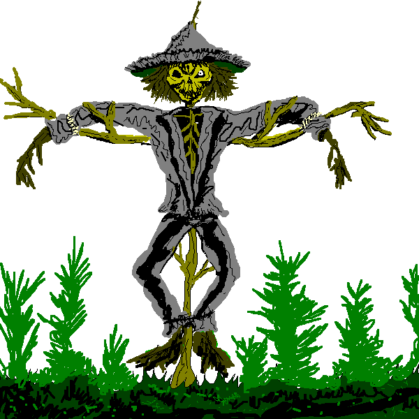 Scary halloween clipart free graphic Scary Scarecrow Clipart graphic