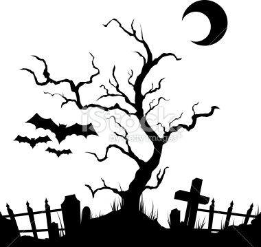 Halloween scene silhouettes clipart clip art royalty free vector silhouette graveyard.Download includes EPS 8 and CS3 files ... clip art royalty free