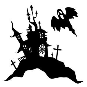 Halloween scene silhouettes clipart image royalty free stock Silhouette Design Store - View Design #157375: witch halloween scene ... image royalty free stock