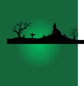 Halloween scene silhouettes clipart image library library Halloween Scene Green Clip Art at Clker.com - vector clip art online ... image library library