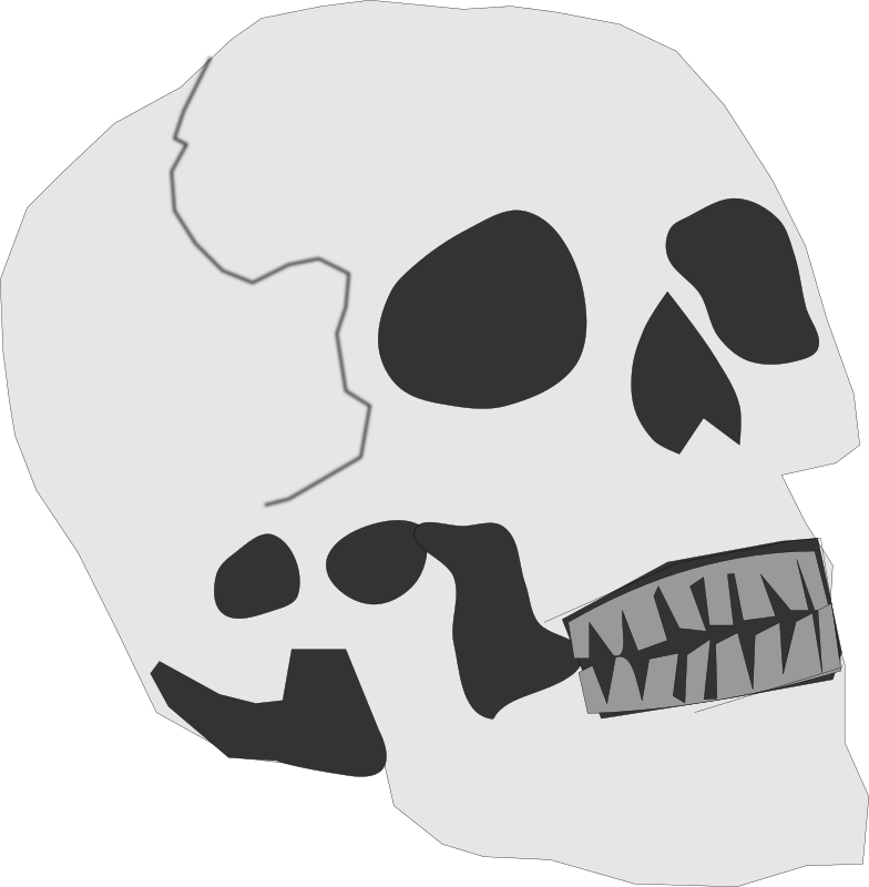 Halloween skeleton clipart black and white picture black and white download Skeleton Clipart nose - Free Clipart on Dumielauxepices.net picture black and white download