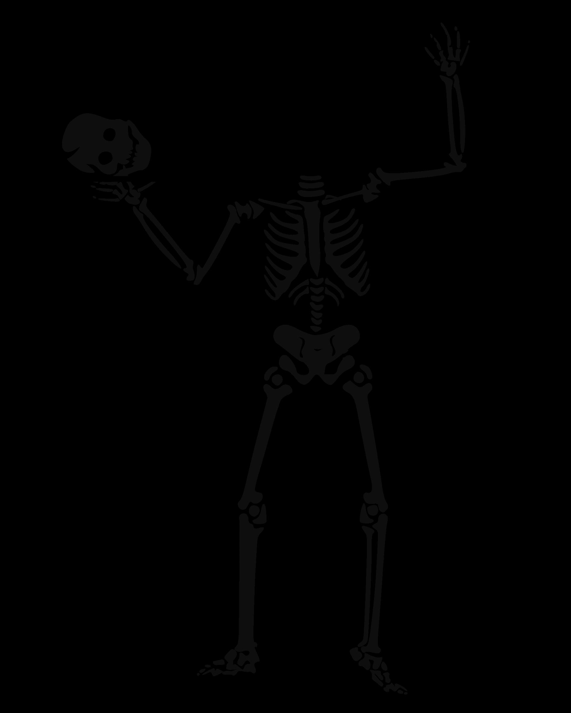 Halloween skeleton clipart black and white svg free Clipart - halloween 0017 svg free