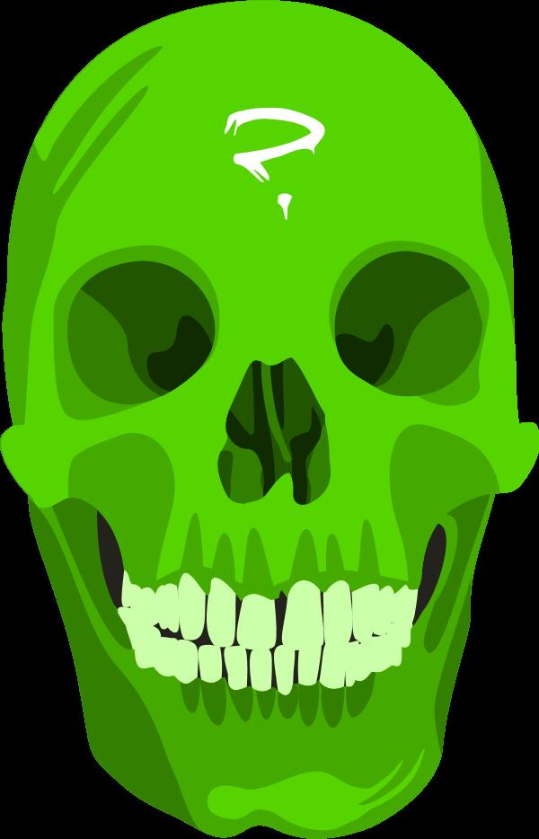 Halloween skeleton head clipart vector transparent Skull Question Mark - vector Clip Art - Clip Art Library vector transparent