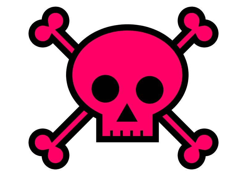 Skull and crossbones with sun glasses clipart clip black and white Pirate Skull Clipart at GetDrawings.com | Free for personal use ... clip black and white