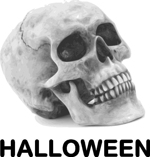 Halloween skull and crossbones clipart jpg transparent Halloween Skull Clip Art at Clker.com - vector clip art online ... jpg transparent
