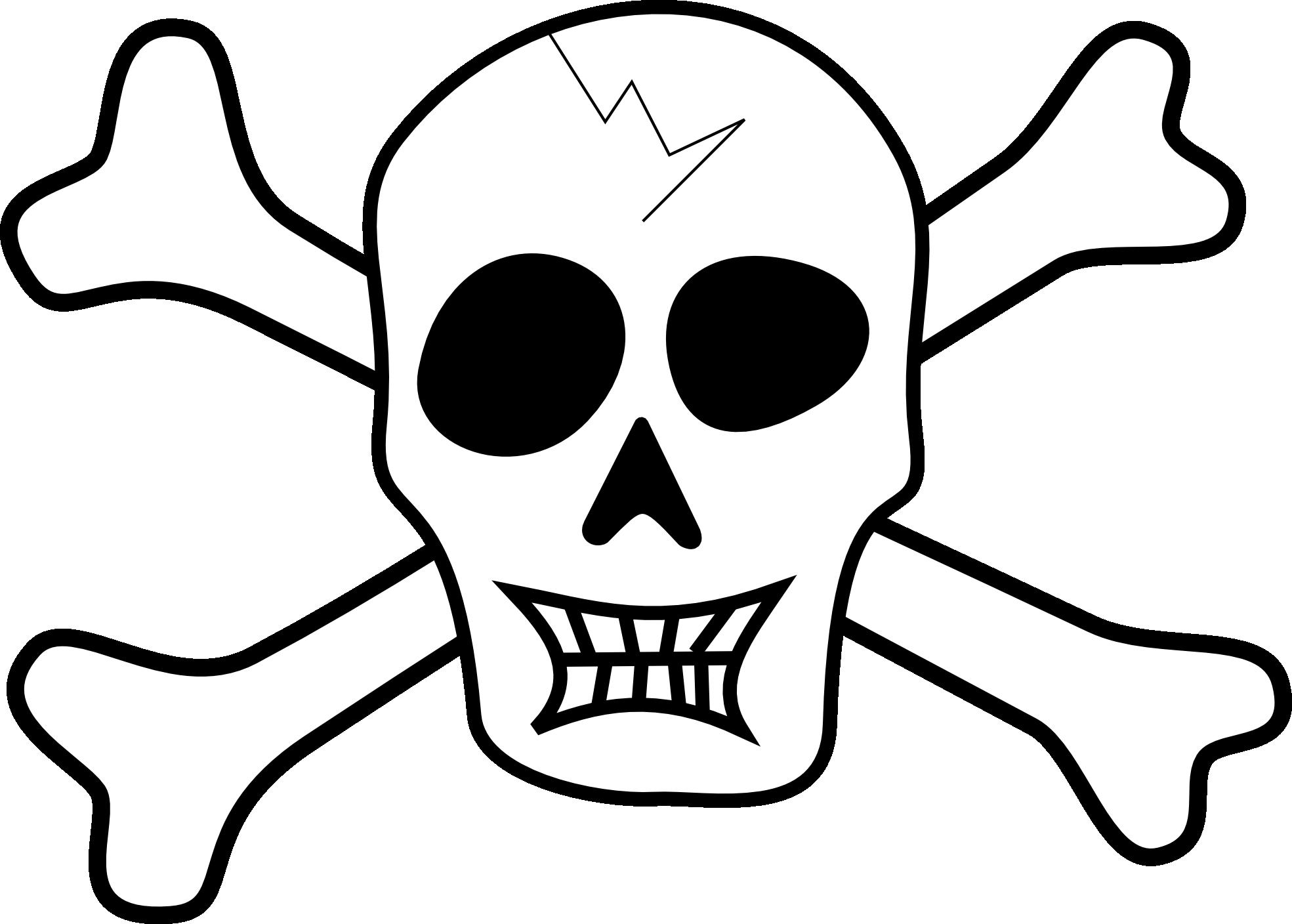 Halloween skull clipart picture royalty free clipartist.net » Clip Art » Tribut Pirate Skull Bones Halloween SVG picture royalty free