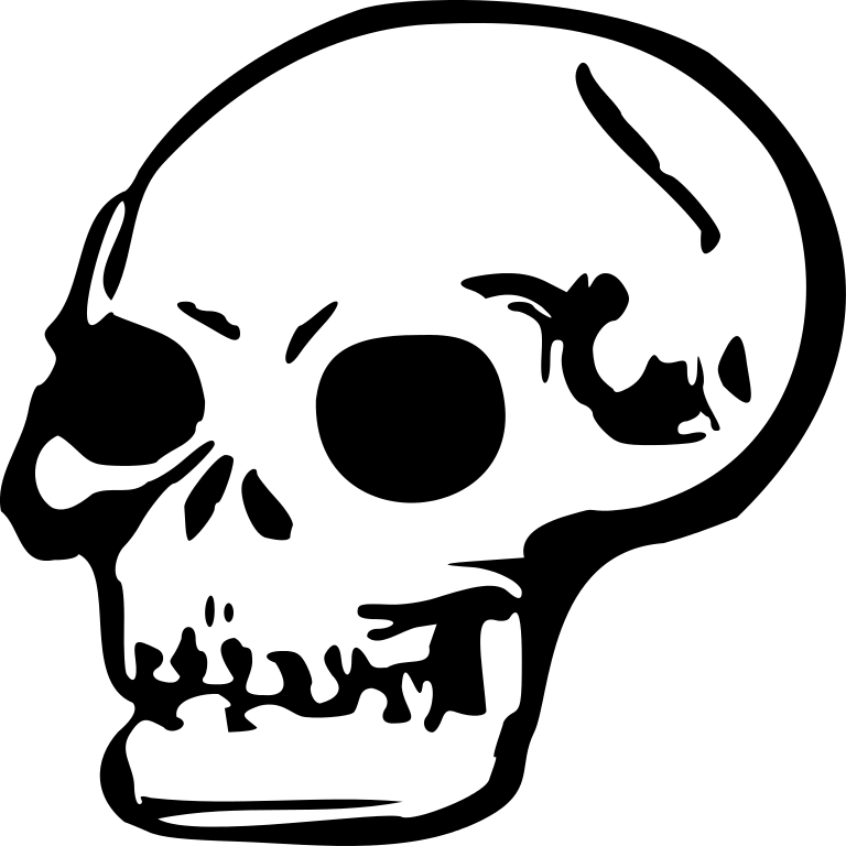 Halloween skulls clipart jpg royalty free library File:Skull 2.svg - Wikimedia Commons jpg royalty free library