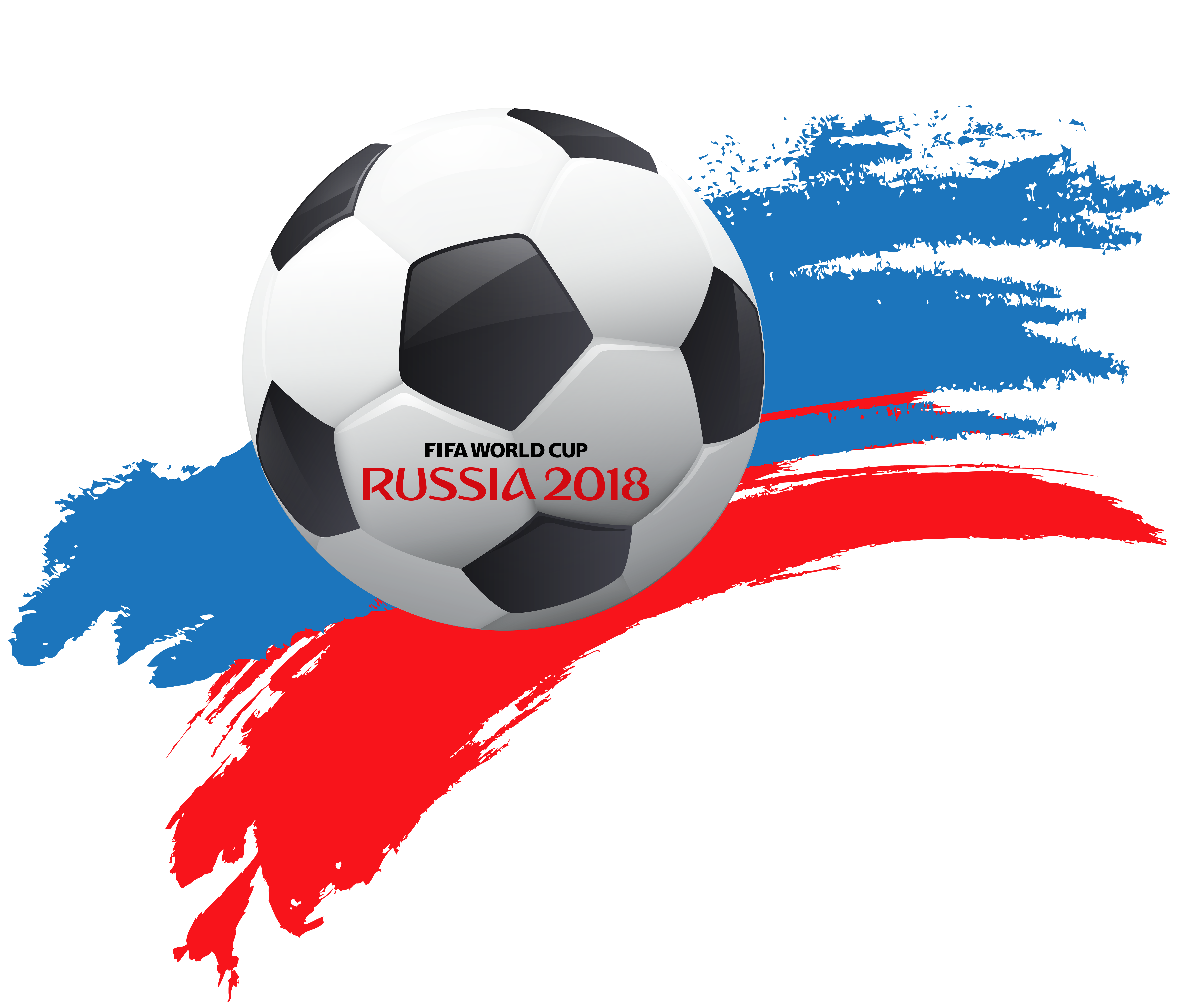 Halloween soccer clipart vector freeuse library World Cup Russia 2018 with Soccer Ball PNG Clip Art | Gallery ... vector freeuse library