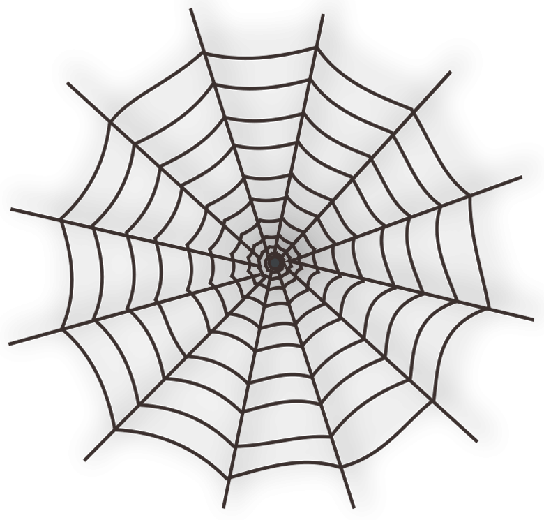 Halloween spider web clipart picture black and white Large_Haunted_ Spider_Web_PNG_Clipart.png (780×745) | Фоторамки и ... picture black and white