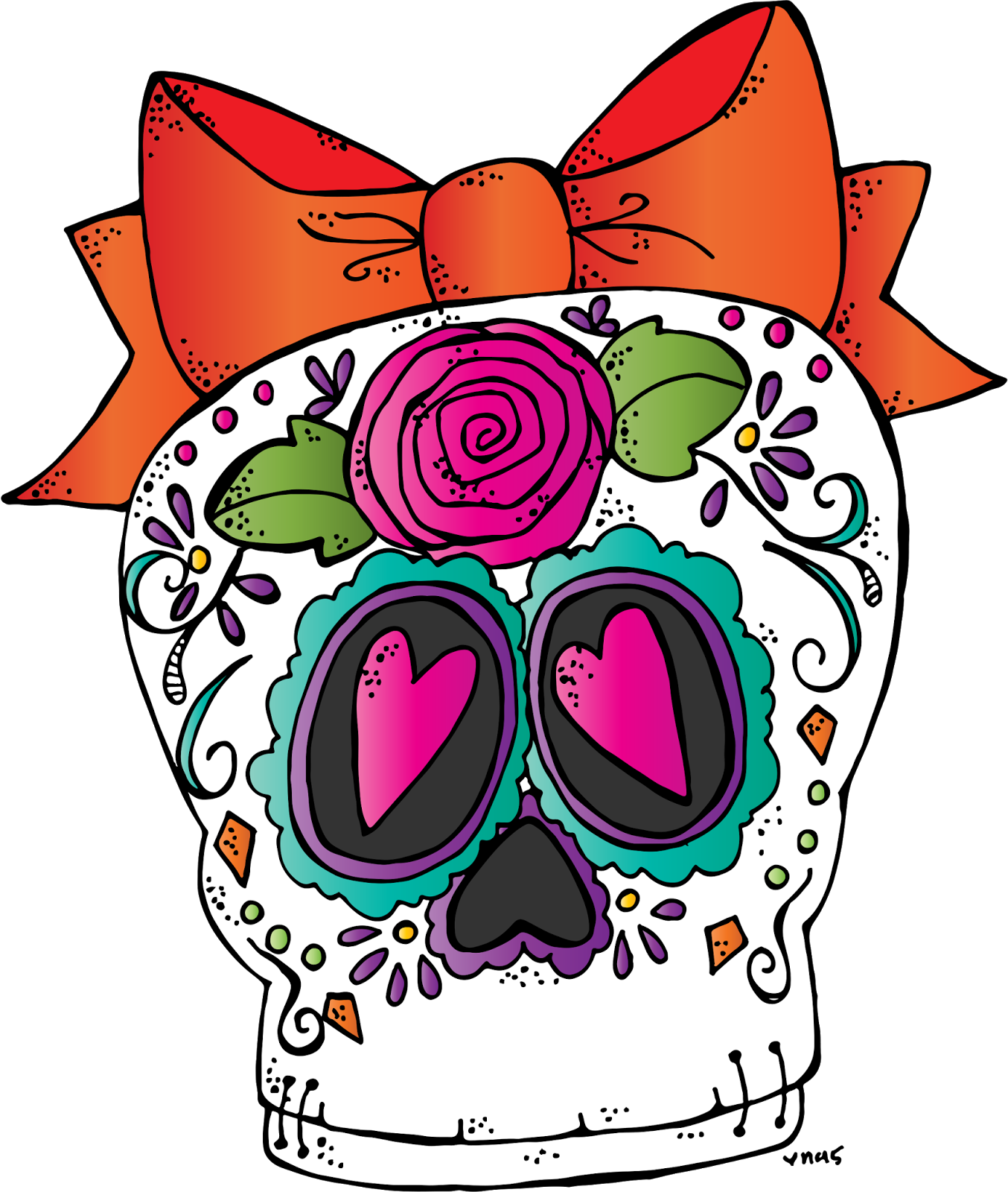 Old school boombox clipart vector transparent download MelonHeadz: Sugar Skull Freebie 2015 vector transparent download