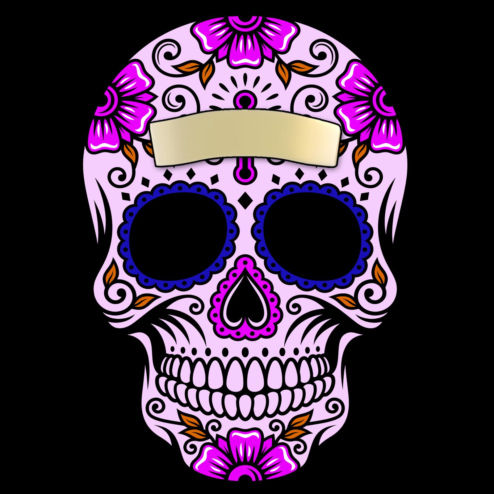 Sugar skull pumpkin clipart image free library calaveras de dia de muertos - Buscar con Google | Tengkorak ... image free library