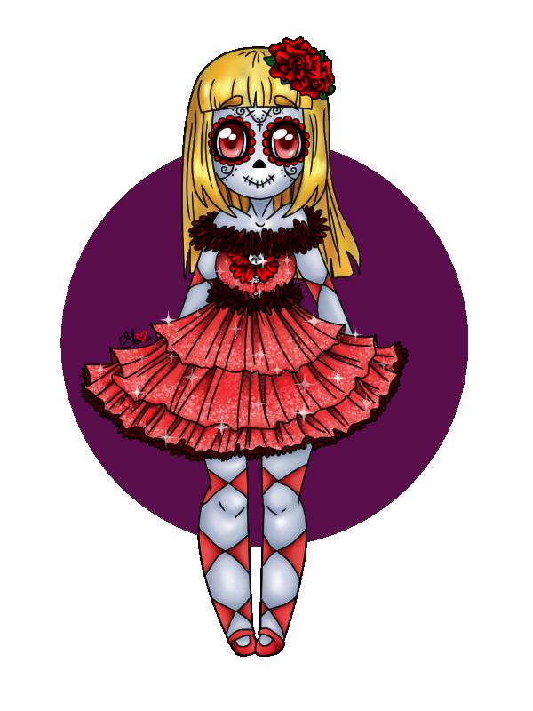 Halloween sugar skull clipart vector transparent download Halloween Adopt Batch 1 Day of the Dead by Just-A-Little-Vore on ... vector transparent download