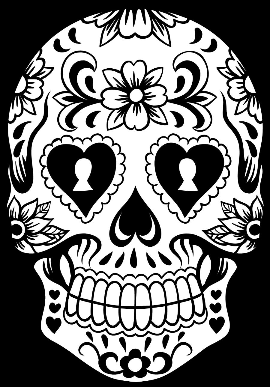 Sugar skull pumpkin clipart clip art black and white stock Sugar Skull Wreath | Pinterest | Skull stencil, Sugar skulls and ... clip art black and white stock