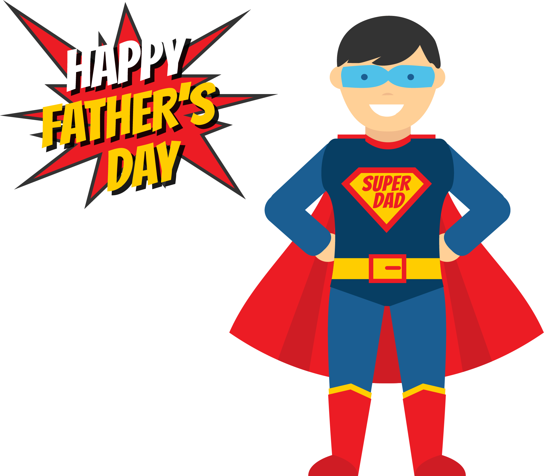 Halloween superheroes clipart free download Fathers Day Superhero Illustration - My superman daddy 1909*1670 ... free download