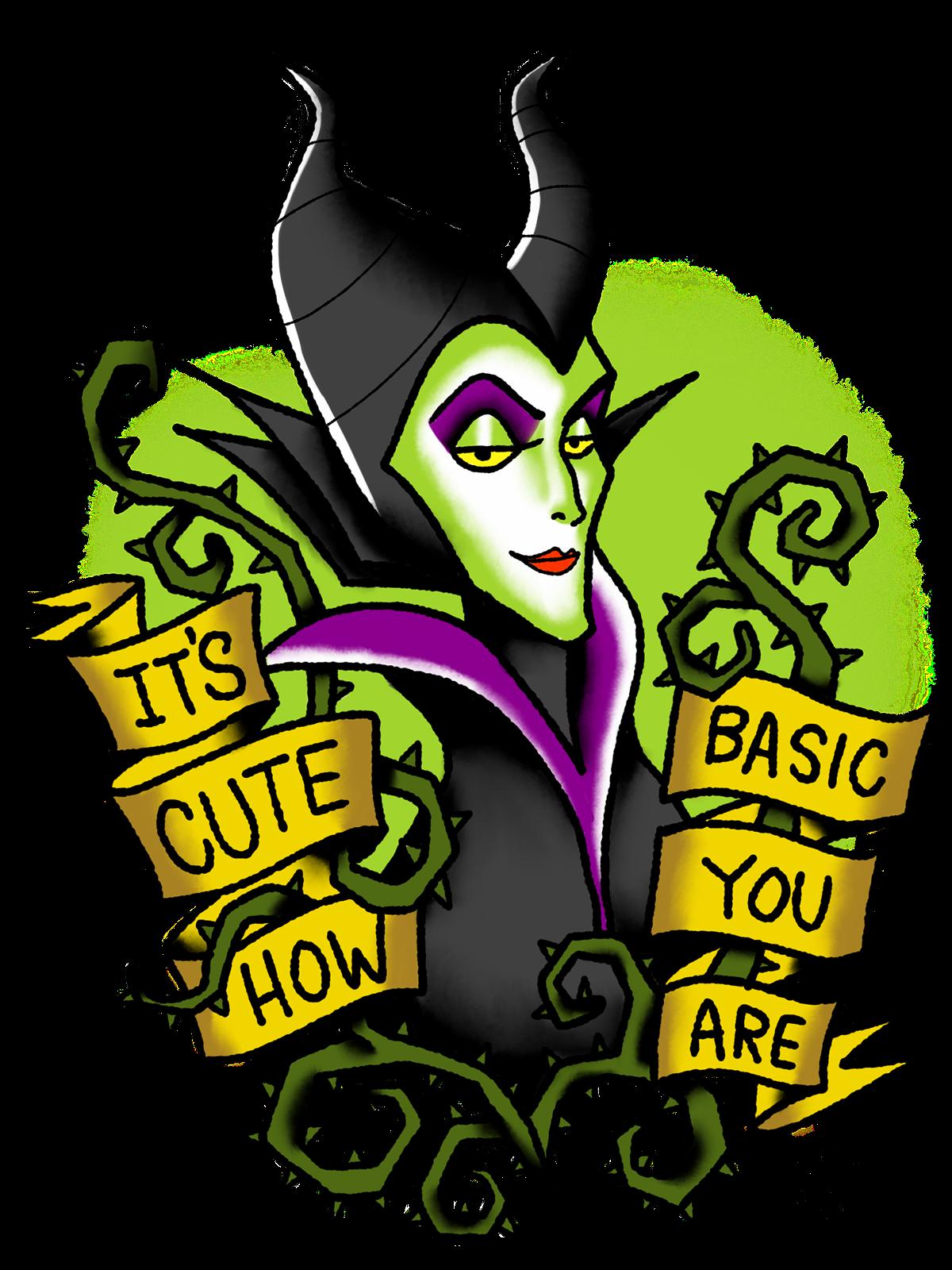 Halloween tattoo clipart free Disney Villain Tattoo Flash on Behance | tattoos | Pinterest ... free