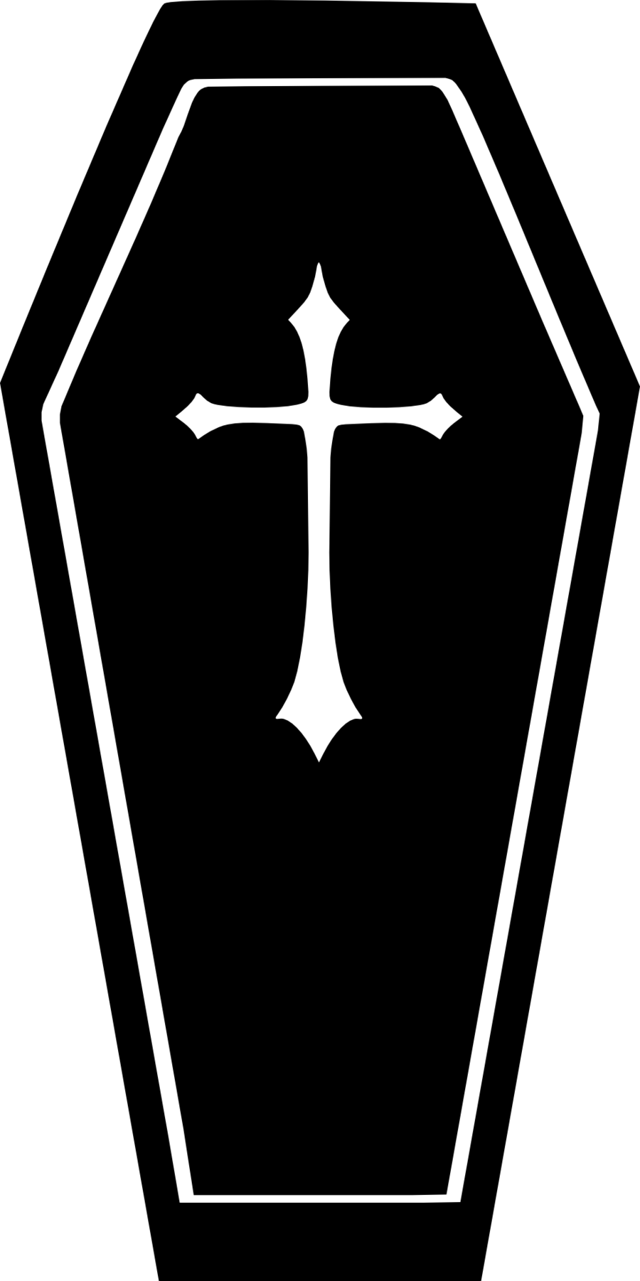 Tombstone cross clipart graphic free stock Coffin Silhouette - ImgMob | final resting place | Pinterest graphic free stock