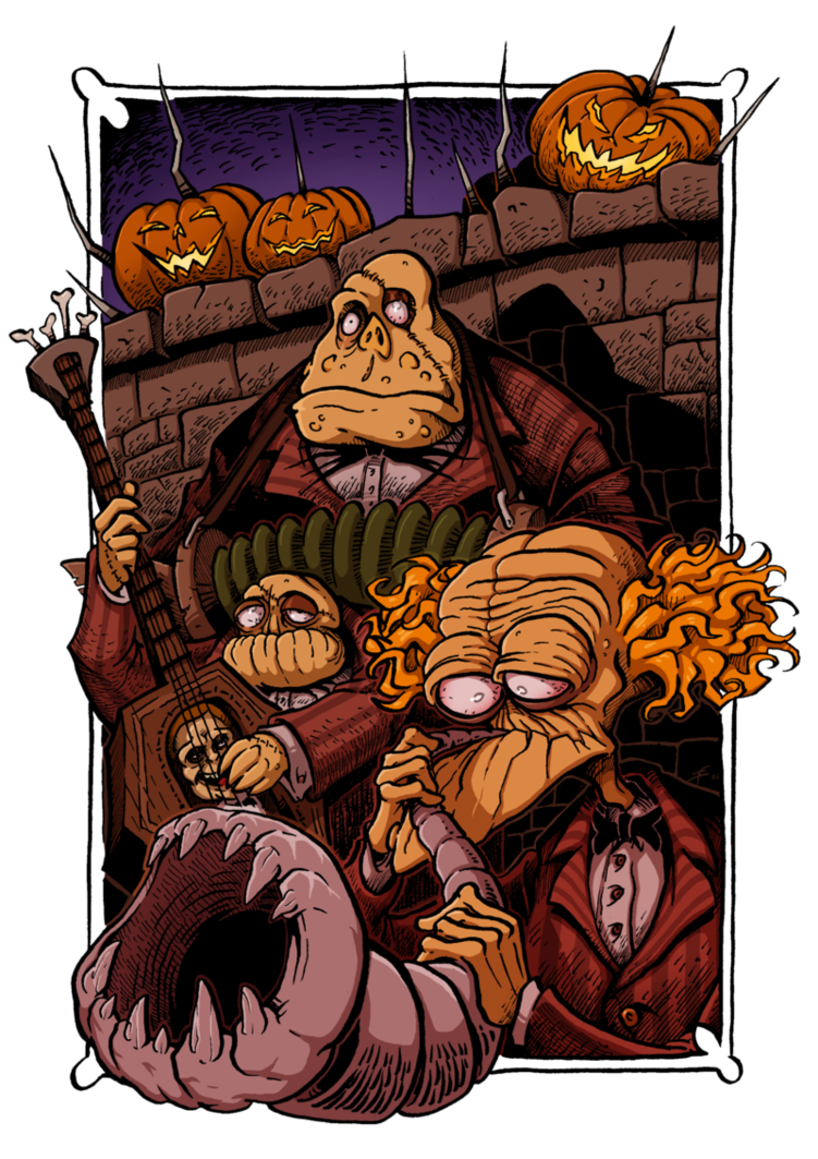 Halloween town pumpkin clipart jpg freeuse stock Halloween Town - Zombie Band by Boredman on DeviantArt jpg freeuse stock